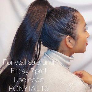 Milahnia Hair Extensions Wrap-around ponytail.